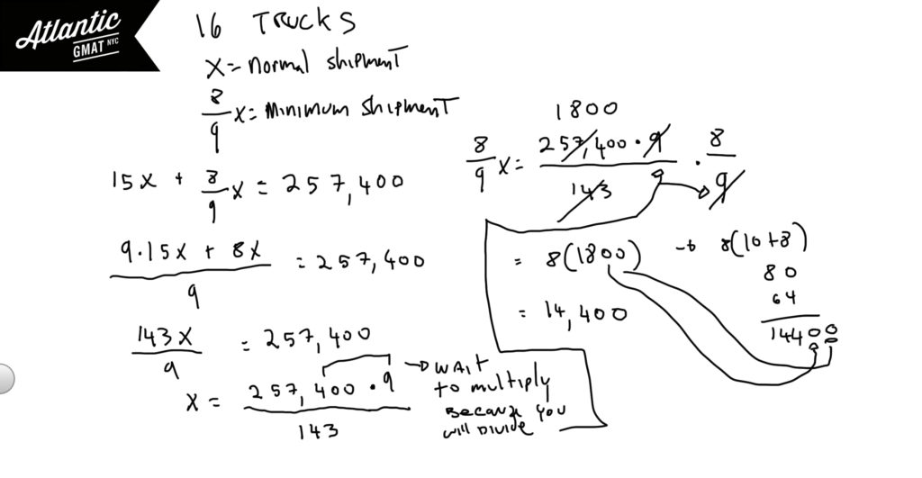 GMAT Question of the Day Problem Solving Word Problem Max/Min Solution Diagram